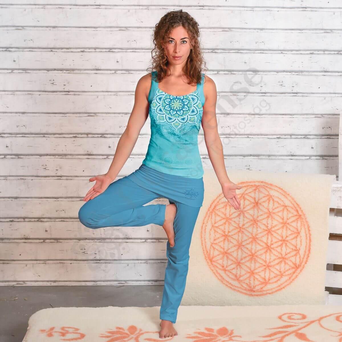 Spirit of Om tenger kék női szoknyás jóganadrág