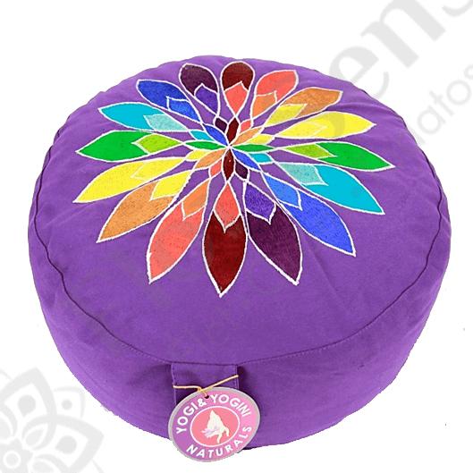 Meditációs ülőpárna - kerek - csakravirággal - lila - FLORASENSE 0965548d3f